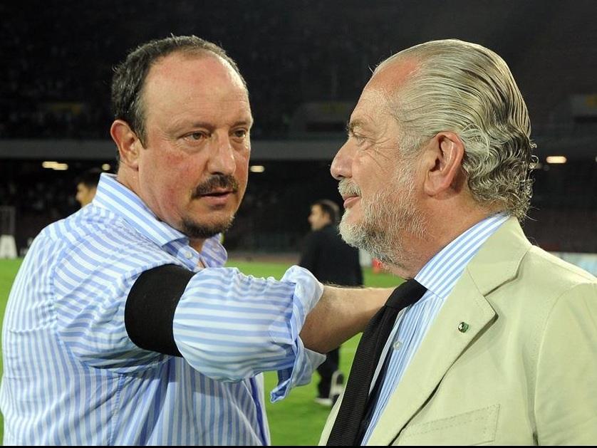 Rafa Benitez e Aurelio De Laurentiis