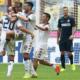 La festa del Cagliari a San Siro nell'incontro finito 4-1 per i sardi