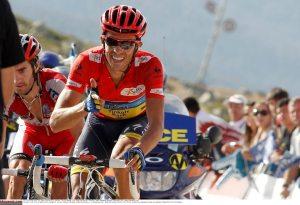 Alberto Contador al traguardo della Bola del Mundo 2012, quando difese la vittoria della Vuelta