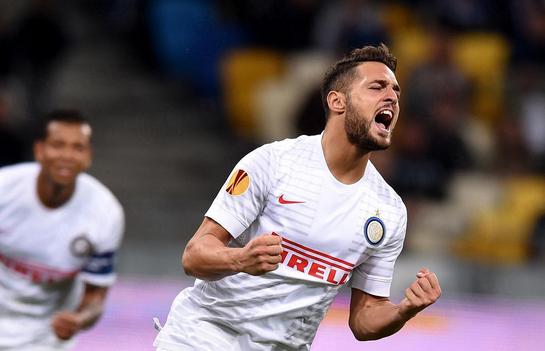 Terzo gol europeo per Danilo D'ambrosio, Inter.