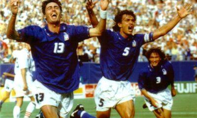 Dino Baggio segna la rete decisiva in Italia-Norvegia dei Mondiali 1994.