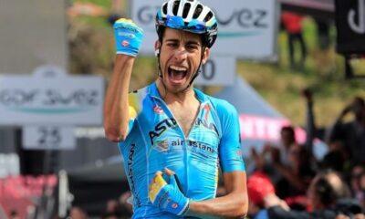 Fabio Aru,tra i favori del Giro d'Italia