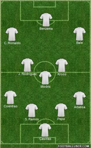 La formazione che il Real Madrid ha schierato nell'ultimo derby di campionato contro l'Atletico