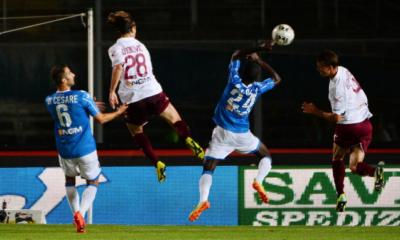Il Livorno vince al Rigamonti con un autogol di Minelli