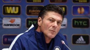 L'allenatore dell'Inter, proprietaria di Bonazzoli: Walter Mazzarri