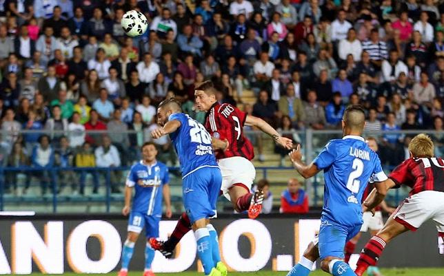 Milan, il gol di Torres contro l'Empoli