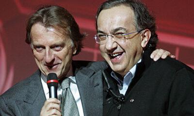 Luca Cordero di Montezemolo e Sergio Marchionne, vecchio e nuovo presidente della Ferrari