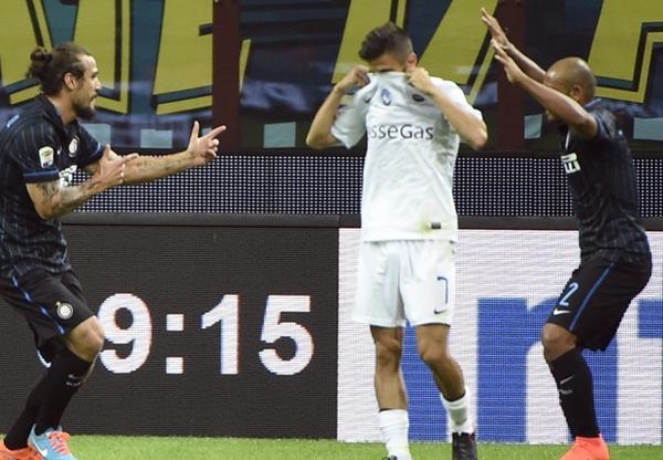 Osvaldo decisivo nel successo dell'Inter sull'Atalanta.