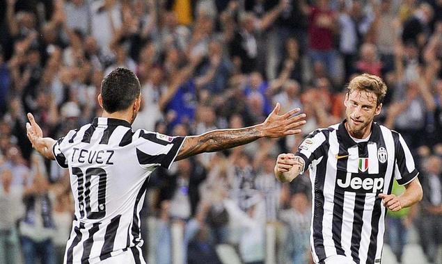 Con i gol di Tevez e Marchisio la Juventus batte l'Udinese