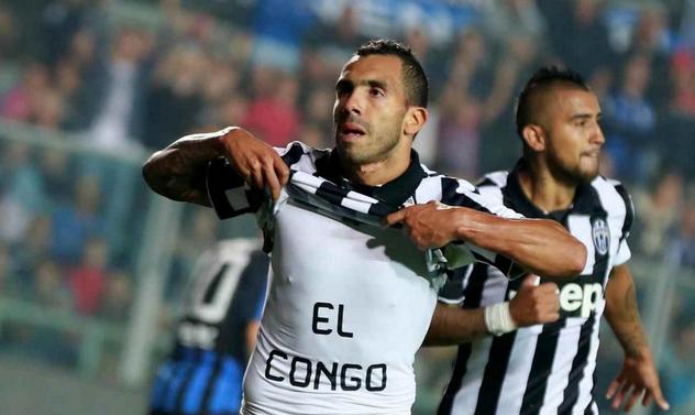 Tevez, Juventus, doppietta contro l'Atalanta