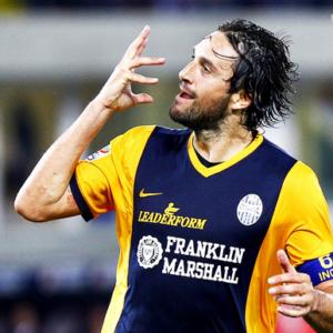Luca Toni, vincitore della classifica cannonieri lo scorso anno a pari merito con Icardi