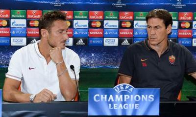 Totti e Garcia in conferenza alla vigilia del Cska
