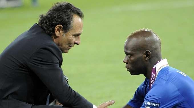 Cesare Prandelli e Mario Balotelli