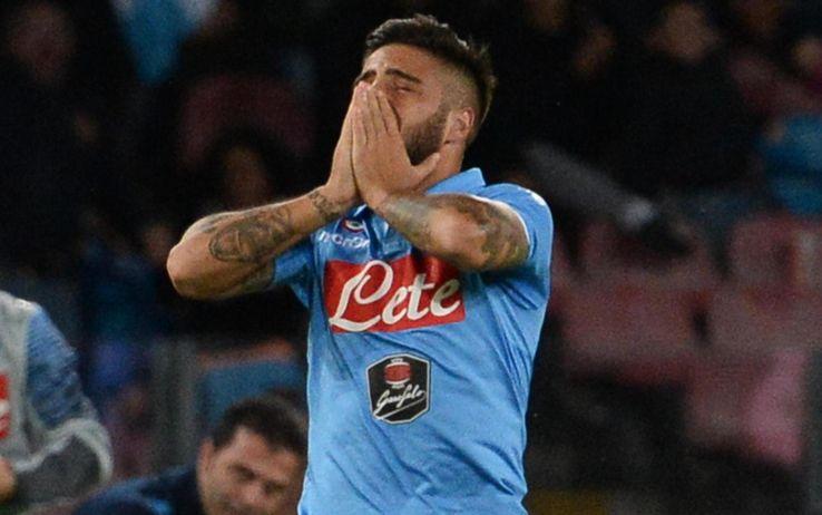 Le lacrime di Lorenzo Insigne dopo il gol del momentaneo 1-1 realizzato al Torino