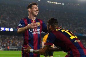 Messi e Neymar, stelle del Barcellona.