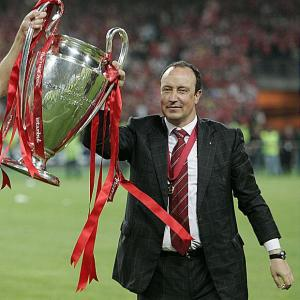 Benitez, vincitore della Champions League con il Liverpool