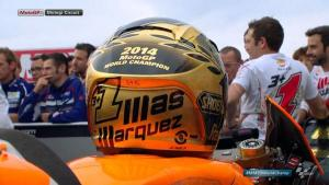 Casco celebrativo per Marquèz: world champion 2014