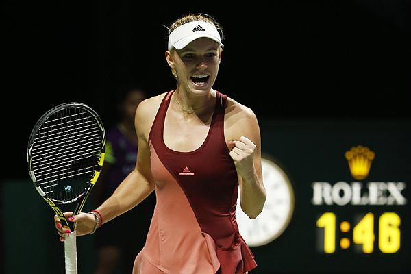Caroline Wozniacki, terzo successo in altrettanti match ai Masters