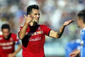 Marco Sau è il capocannoniere del Cagliari in campionato con quattro reti