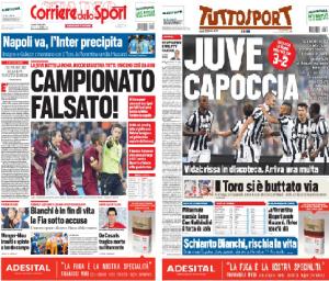 Corriere dello Sport VS Tuttosport dopo Juventus-Roma