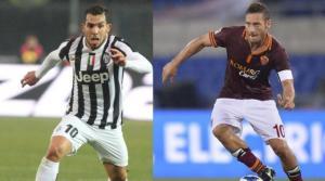 Tevez e Totti, due grandissimi protagonisti di questa prima parte di campionato
