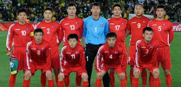 La nazionale della Corea del Nord
