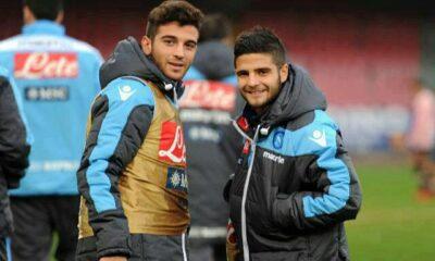 I fratelli Insigne con la maglia del Napoli