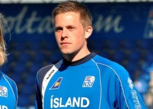 Sigurdsson, autore della doppietta che ha dato la vittoria all'Islanda sull'Olanda