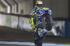 Rossi sotto il tunnel di Motegi: 2nd in qualifica