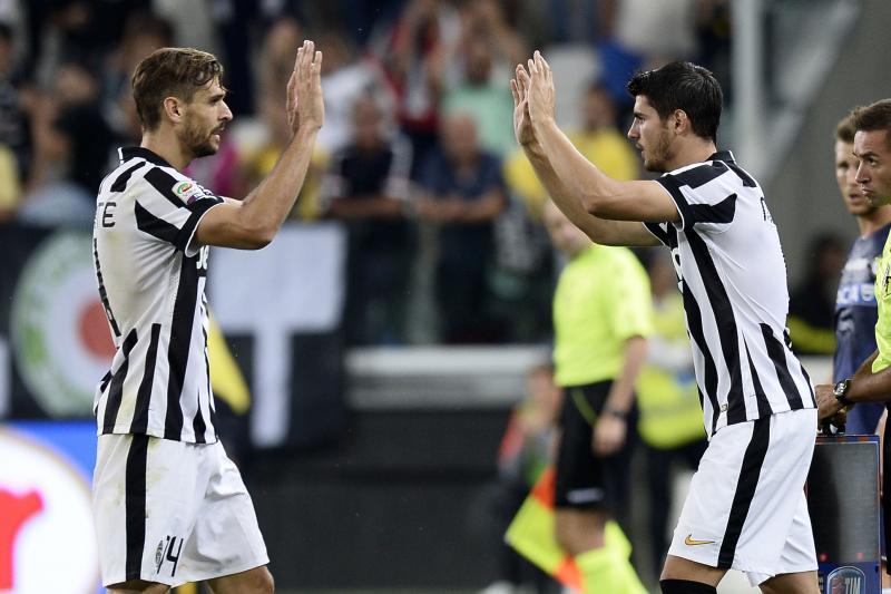 Llorente e Morata, attaccanti spagnoli della Juventus