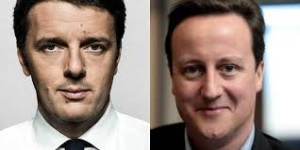 cameron e renzi, asse contro la UE