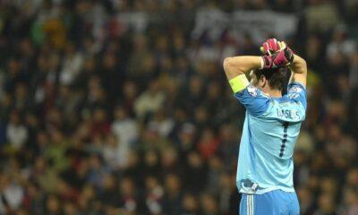 Iker Casillas, protagonista di una papera nella sconfitta contro la Slovacchia