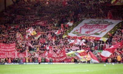 La mitica curva del Liverpool