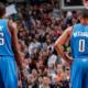 Durant e Westbrook, Oklahoma City Thunder.
