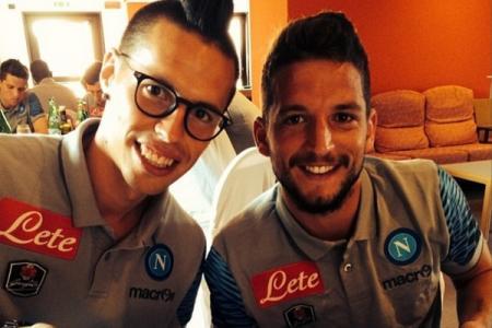 Marek Hamsik e Dries Mertens: i due campioni azzurri sono tornati carichi e in forma dagli impegni con le rispettive Nazionali
