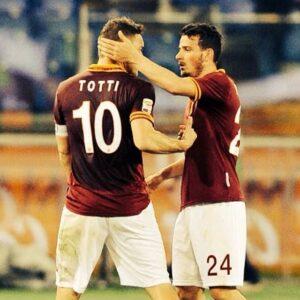 Francesco Totti e Alessandro Florenzi, passato e futuro della Roma