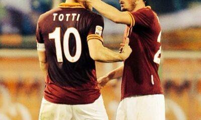 LIVE Roma-Lazio Francesco Totti e Alessandro Florenzi, passato e futuro della Roma