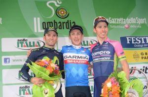Il podio del Lombardia 2014