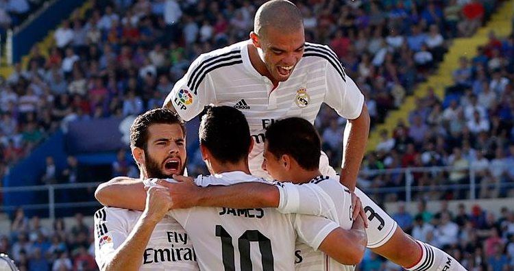 5-0 del Real Madrid a Levante