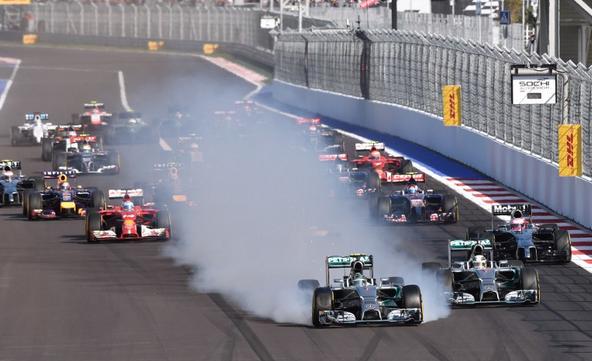 Gp Sochi: l'errore in partenza di Nico Rosberg