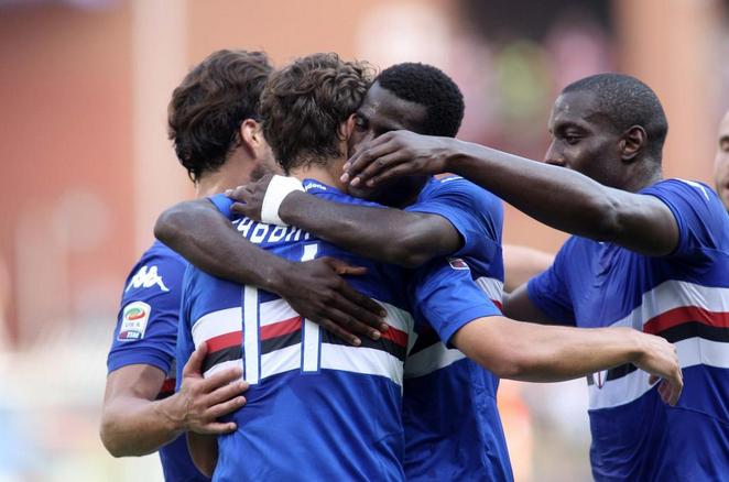 Sampdoria-Atalanta 1-0, Gabbiadini