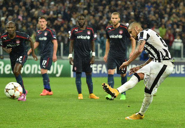 Juventus Olympiakos Vidal