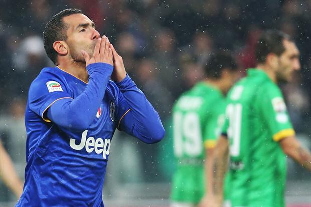 Carlos Tevez, bomber della Juventus