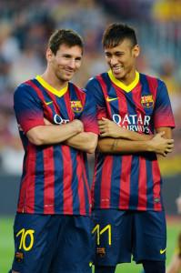 Neymar e Messi, stelle del Barcellona