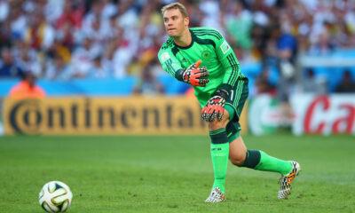 Manuel Neuer, portiere del Bayern Monaco. Il tedesco è in corsa per la conquista del Pallone d'oro