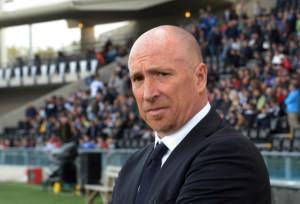 Rolando Maran, tecnico del Chievo. I clivensi, gemellati con il Milan, hanno commemorato i defunti