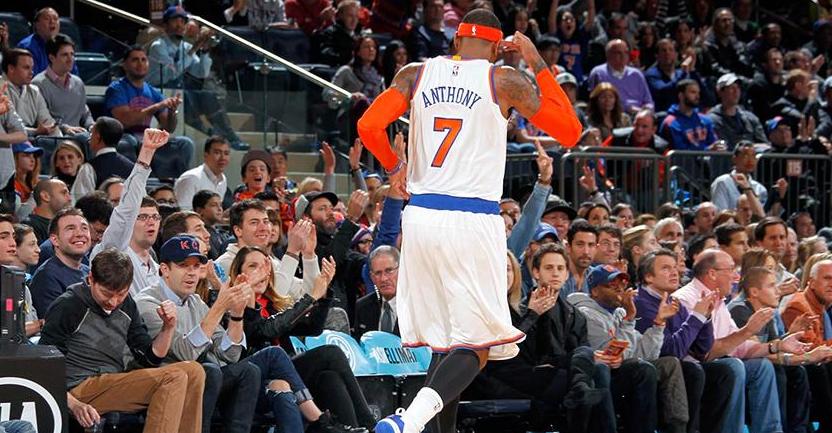Anthony supera i 20 mila punti in carriera Nba nella vittoria di NY contro Charlotte