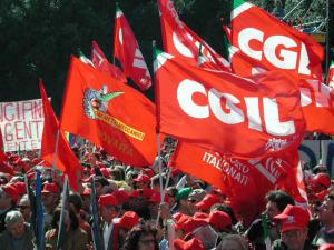La manifestazione della Cgil di Landini