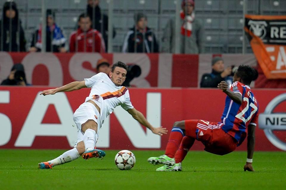 Alessandro Florenzi, tra i migliori nella sconfitta della Roma a Monaco