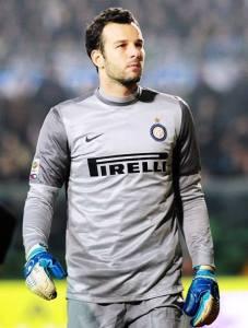 Samir Handanovic, portiere dell'Inter, gran protagonista della serata di San Siro